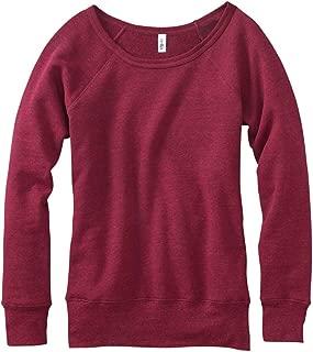 Ladies 8.2 oz. Mia Slouchy Wideneck Fleece - Red Heather - 2XL