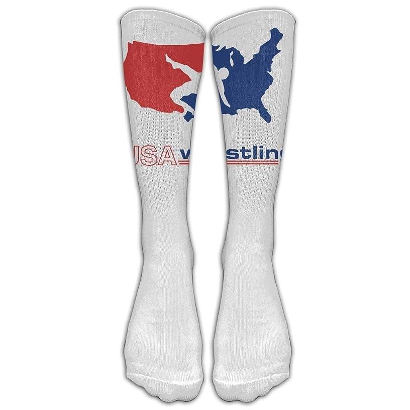 USA Wrestling Knee High Long Socks Athletic Tube Stockings For Soccer 50cm