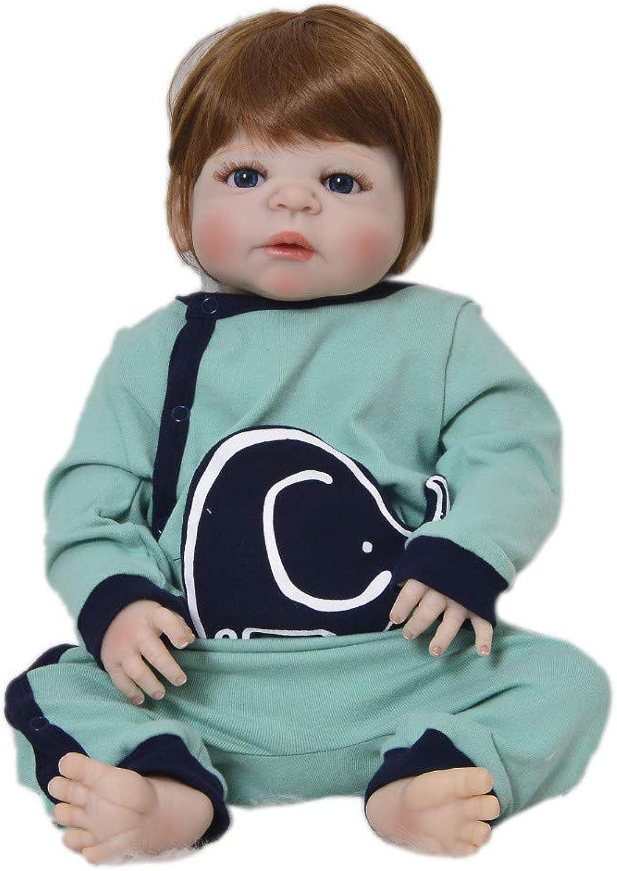 MCCW 23 Zoll wiedergeborene Puppe 57cm volle Plastiksimulation Baby kann das Wasser Infant-Puzzle-High-End-Puppe Frühaufsteher-Schenkerschein-Set