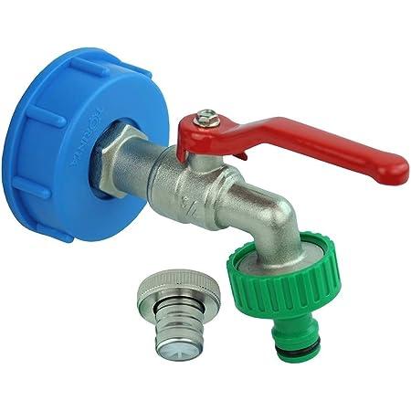 Schildeng IBC-Schwanenhals-IBC-Adapter 3//4 Zoll IBC-Adapter mit Auslasshahn IBC-Tankzubeh/ör