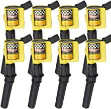 AcPulse Ignition Coil Set of 8 for Ford F-150 F-250 F-350 Lincoln Mercury 4.6L 5.4L V8 Compatible with DG508 C1454 C1417 FD503 Yellow