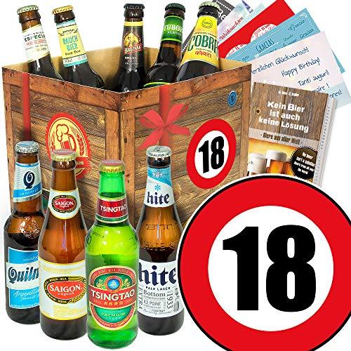 Geburtstagsgeschenke für Männer zum 18. / Bierbox mit Bier der Welt