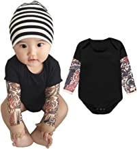 Jobakids Tattoo Sleeve Romper for Baby Boy Infant Jumpsuit Newborn T-Shirt Outfits Cotton Onesie