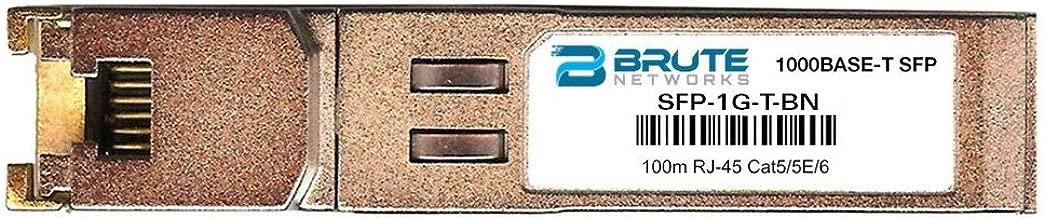 Brute Networks SFP-1G-T-BN - 1000BASE-T 100m RJ45 SFP Transceiver (Compatible with OEM PN# SFP-1G-T)