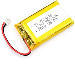 AKZYTUE 3.7V 950mAh 703045 Lipo Battery Rechargeable Lithium Polymer ion Battery Pack with JST Connector