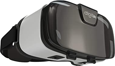 digib Virtual Reality Glasses for iPhone / Android Phone | New VR Headset 2019 | AR/VR 3D 360 Googles Compatible with Most Smartphones | Comfortable Adjustable VR Viewer with Eye Protection (Cyborg)