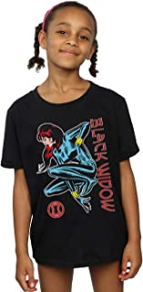 Marvel Girls Black Widow In Action T-Shirt