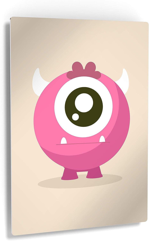 Smile Art Design Lovely Pink Cream Sale item Monster National uniform free shipping Metal Prin Background