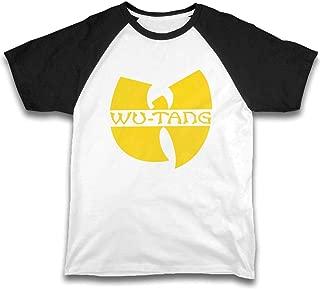 Kids Children's Shirts Wu Tang Clan 2 Raglan Shirt Short Sleeve Baseball Tee Black