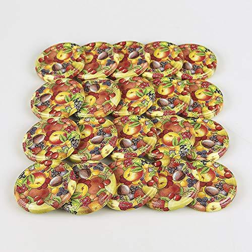 Flaschenbauer - Flaschenbauer - Ersatzdeckel 20 St. Twist-Off-Deckel 66 mm für Gläser, Obstdekor Deckel für Marmeladengläser, Sturzgläser, Einkochgläser, Konservengläser und Einmachgläser to 66