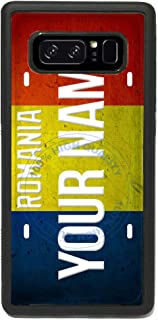 BRGiftShop Customize Your Own License Romania Flag Country Plate Rubber Phone Case for Samsung Galaxy Note 8