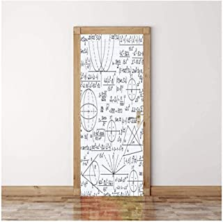 Door Sticker 3D Sticker Chemical Hand-Painted Stick Figure Wall Paper Removable Self-Adhesive Murals for Bedroom Office Wall Stickers Home Decoration-qLdYf -90cm(W)200cm(H)