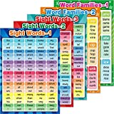 Educational Posters Sight Words and Word Families Posters Educational Charts, Classroom Posters and Decorations Learning Posters for Preschool, Kindergarten, Nursery, Homeschool, Playroom Decor