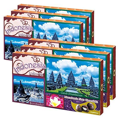 バリ・インドネシアお土産 | インドネシア マカデミアナッツチョコレート 6箱セット