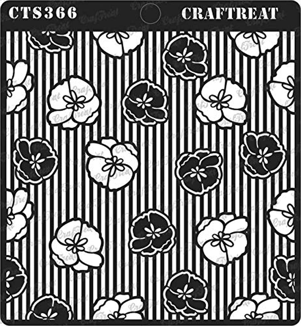 CrafTreat Stencil - Flower Fusion Anemone | Reusable Painting Template for Journal, Notebook, Home Decor, Crafting, DIY Albums, Scrapbook and Printing on Paper, Floor, Wall, Tile, Fabric, Wood 6