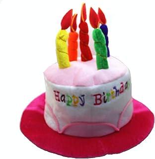 バースデー お誕生日 飾り付け バンダナ 帽子 仮装の誕生日帽子 記念日 帽子 ろうそく ケーキ型 ハット かわいい コスチューム パーティー ハッピー アイテム グッズ 変身 コスプレ (ピンク)