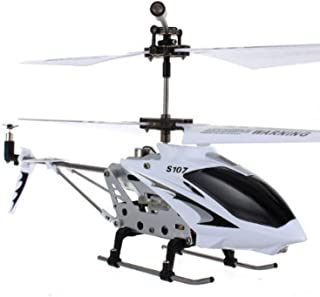 Syma S107G 3 Channel RC Helicopter with Gyro, White and silver