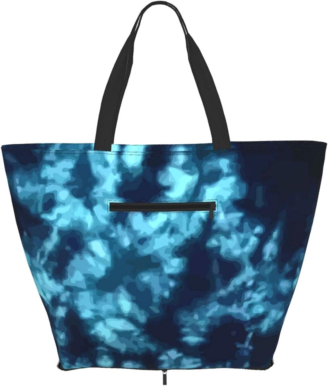 Shoulder Tote Bag Blue Sea Tie Satc Purse Sales results No. 1 Max 51% OFF Pattern Top Dye Handle