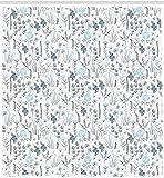 vrupi Pflanze Duschvorhang Vanille Blatt Blume Natur Löwenzahn Hyazinthe Beeren Kunstwerk 71 x 71 Zoll Polyester wasserdichtes Gewebe beinhaltet zwölf Kunststoffhaken