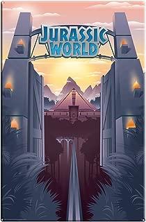 Factory Entertainment Jurassic World Park Gates Large Metal Sign