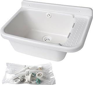 La ventilación lavsg50-y fregadero pilozzo (resina, blanco