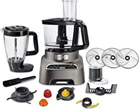TEFAL Double Force 3 Litre Food Processor with Attachements, Multifunctional, Silver, Plastic, FP827E27