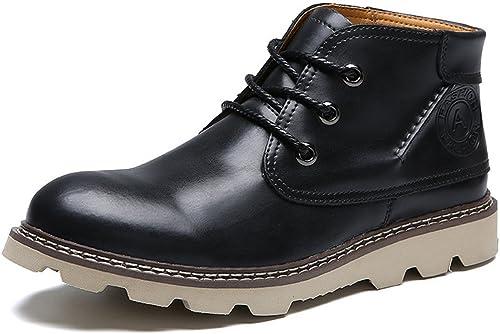 ZQ@QXHiver hommes pour l'extérieur de l'air loisirs Martin Martin bottes chaussures