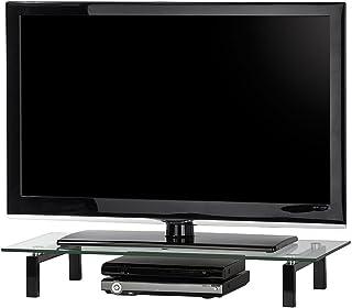 MAJA surmeuble TV, métal, Noir, 82 x 12,5 x 35 cm