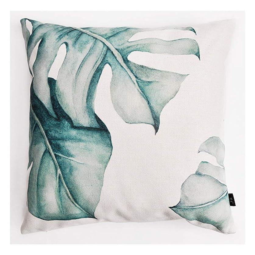 共産主義ハウジングバッジ北欧スタイルのソファベッドコットンとリネン植物枕カバーなしコアスクエア枕クッション18 * 18インチ (Color : C)