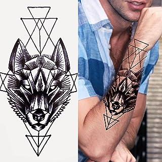 Tijdelijke Tatoeages 3 Vellen Tijger Zwart Tribal Totem Tijdelijke Tattoo Voor Mannen Vrouwen Kids Nep Wolf Panda Leeuw Sc...