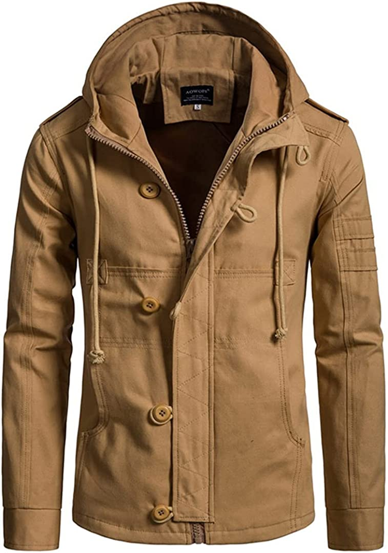 Men's Jackets Spring Autumn Hooded Jacket Cotton European Quality Large special price !! inspection Cardig