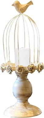 Bougeoir Cage à Oiseaux Vintage, Lanterne Métallique Art Du Fer, Chandeliers Décoratifs Pour Tables De Mariage, Bougeoir Deco