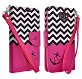 Motorola Droid Turbo Case - Galaxy Wireless Motorola Droid Turbo/Quark XT1254 Rugged Heavy Duty Case - Rugged Holster Case with Kickstand for Motorola Droid Turbo (HOT PINK ANCHOR)