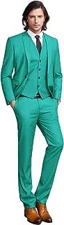 Men's Suit Slim Fit One/Two Button 3 Piece Suits Jacket Vest & Trousers