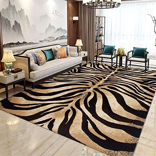 Kunsen alfombras niños Alfombra Carretera Alfombra de Estar Alfombra Antideslizante Cómoda Mat Brown Brown alfombras Dormitorio 160x230cm 5ft 3' X7ft 6.6'