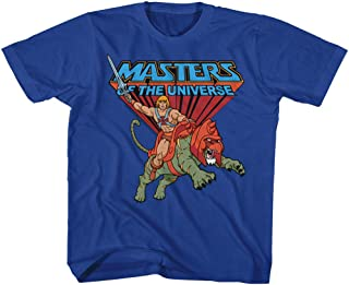 Masters of The Universe TV Series He-Man Rides Into Battle Youth T-Shirt Tee