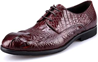 Men's Wine Red Business Oxford Shoes Formal Shoes (Color : Claret, Size : 45)