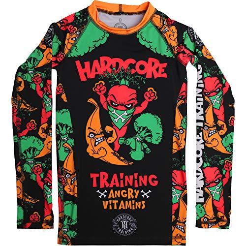 Hardcore Training Kids Rash Guard Camisa de Compresión Manga Larga Ninos BJJ MMA Fitness Workout Ropa Deportiva