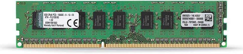 Kingston Technology 8GB (1x8 GB) 1333MHz DDR3 PC3-12800 240-Pin ECC DIMM Memory for Select HP/Compaq Servers & Workstations KTH-PL313E/8G