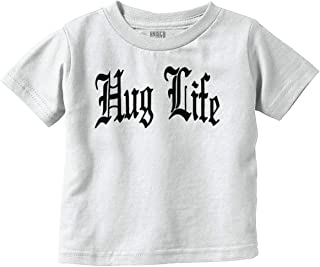 Hug Life Cute Funny Thug Newborn Gangster Infant Toddler T Shirt