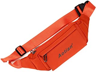 Travel Essential, Stylish and Durable Korean Version of The Outdoor Leisure Chest Bag (Color : Orange, Size : 21 * 11 * 5cm)