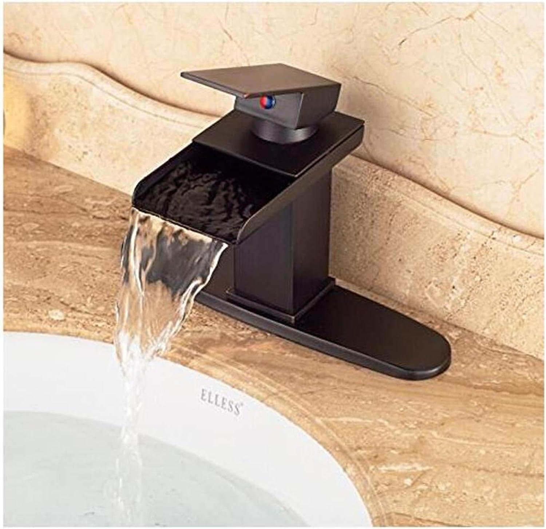 Wasserhahn Moderne Mischbatterie Waschbecken Mischbatterie Günstige Wasserfall Einhebel Waschbecken Wasserhahn Mit Loch Abdeckplatte l Eingerieben Bronze
