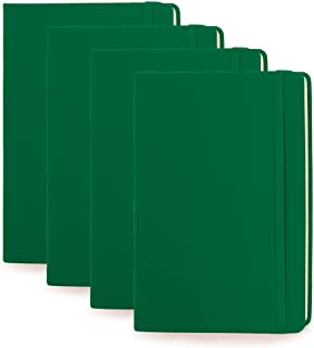 Simply Genius (4 Pack) A5 Hardcover Leatherette Journals to Write in for Women, Faux Leather Journal for Men, Writing Jour...