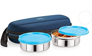 Cello Max Fresh Super Steel Lunch Box Set 2-Pieces Standard Blue