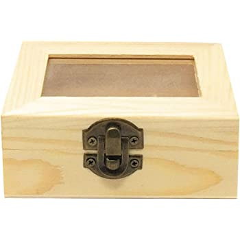C1 Caja de Madera con Tapa Cristal: Amazon.es: Hogar