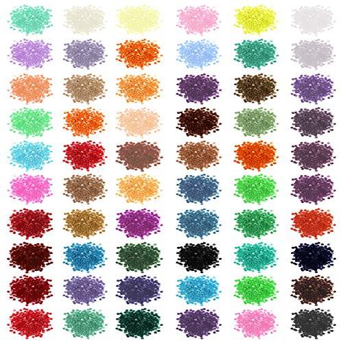 YG_Oline 60 Colors 5D Diamond Painting Beads, Diamond Painting Accessories Supplies Replacement Round Diamonds, 1000 Pcs/Color