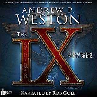The IX audiobook cover art