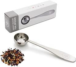Teabloom Perfect Measure Loose Leaf Tea Spoon - Brushed Stainless Steel Tea Spoon