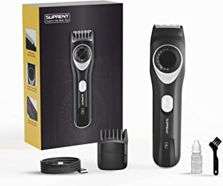 SUPRENT™ Beard Trimmers for Men All-in-one Adjustable Beard Trimmers with Li-ion Battery, 19 Built-in Precise Lengths, Lon...