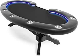 BBO Poker Lumen HD Lighted Poker Table for 10 Players, 101.5 x 46-Inch Oval